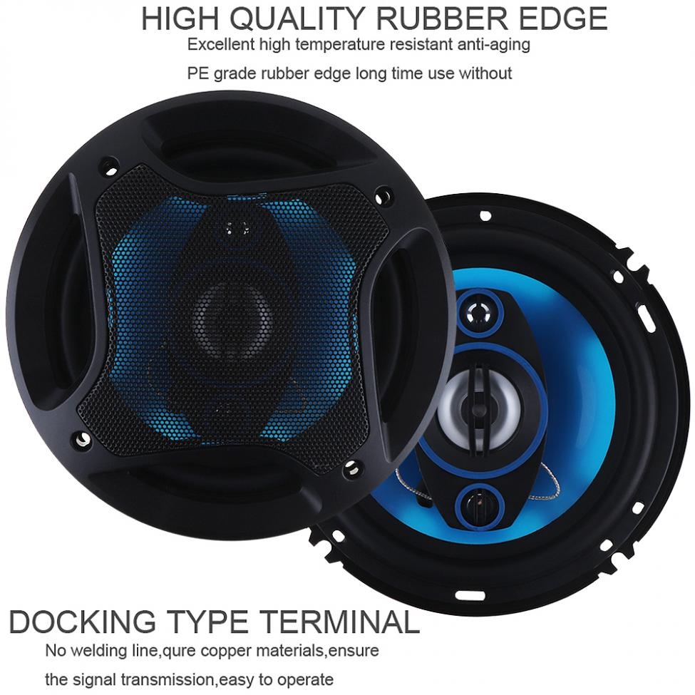 Image 2 - 2pcs 6.5Inch 180W 3 Way Auto Car Loudspeaker Coaxial Speakers Horn Audio Music Stereo Full Range Frequency Hifi Vehicle Speaker-in Coaxial speakers from Automobiles & Motorcycles
