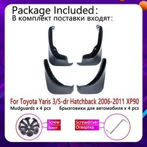 Image 2 - for Toyota Yaris Vitz 2006~2011 XP90 Mudflap Fender Mudguards Mud Flaps Guard Splash Flap Car Accessories 2007 2008 2009 2010