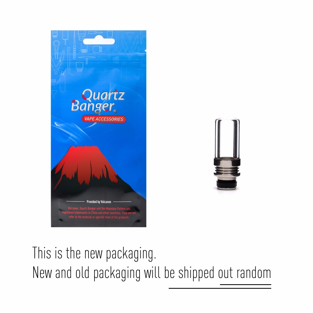 Quartz Banger 1pc Pyrex Glass Drip Tip 510 with Stainless Steel Joint for  ecig Tank Glass Mouthpiece RDA RTA DIY Vaporizer