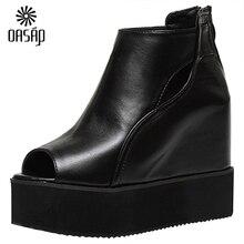OASAP Summer fashion women sandals Women's Peep Toe High Top Platform Wedge Heel Shoes hot sale open-toe cool boots-100547