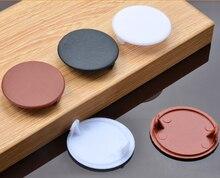 Bouchon de décoration de prise de trou de meubles de 35 38 40mm, couvercle de bouchon de trou de vis en plastique, vis de placard de chapeau de meubles en bois à la maison