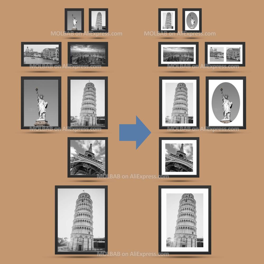 Marco de fotos blanco Mat/papel negro Passe Partouts 7/12/16/20 ...