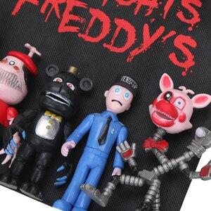 Image 3 - パックの 13 個fnaf pvcアクションフィギュアとバッグ 10 11.5 センチメートル 5 夜でフレディのフレディfazbearフォクシー人形おもちゃbrinqudoes