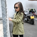 4-13t Big Girls Trench Coats Autumn Girls Windbreaker Trench Jackets For Girls Outerwear Kids Clothes Veste Fille Enfants