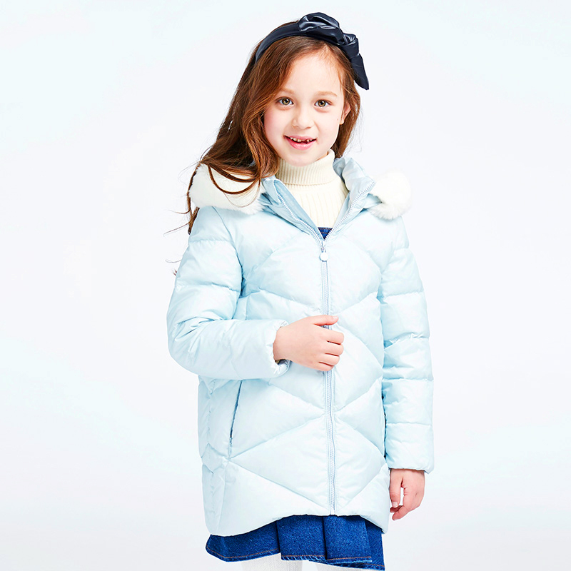 Feather Baby Snow Jackets Clothes Wear Parka Kids Coats Roupas Infantis Menina Winter Coat Girl Snowsuit Baby Down Jacket 60Z008 girl jackets coat for winter baby girl down