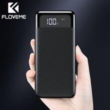 FLOVEME, 10000 мА/ч, внешний аккумулятор, светодиодный дисплей, двойной USB mi, внешний аккумулятор, портативное зарядное устройство, повербанк для iPhone, Xiao mi