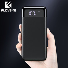 FLOVEME 10000mAh Power Bank Led-anzeige Dual USB mi Power Externe Batterie Pack Tragbare Ladegerät Poverbank Für iPhone Xiao mi(China)