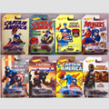 HOT WHEELS 1:64 The avengers alliance Captain America Set toy 8pcs/set sports car Diecasts&Toy Vehicles Limited Alloy RETAIL BOX