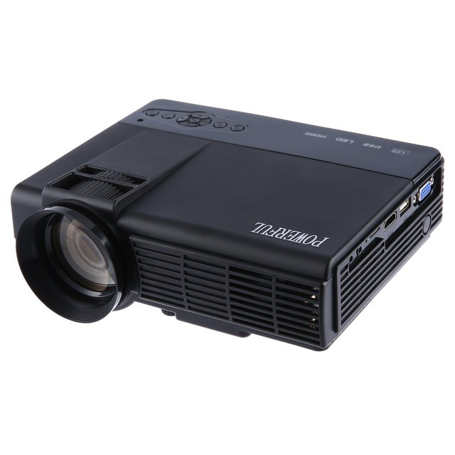 PODEROSA Original Q5 40 W Portátil Home Theater 1000 Lumens 480*320 Pixels Melhor Do Que UNIC UC46 Multimídia HD Projetor LCD