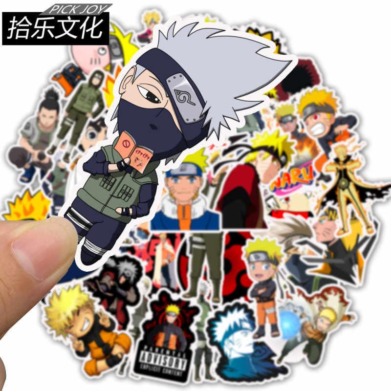 50 PCS Naruto Anime Mala Adesivos Skate Laptop Scrapbooking Adesivo À Prova D' Água Educação Clássicos Brinquedos Para As Crianças Presentes