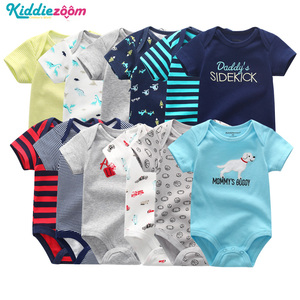 Image 1 - Newborn Baby Rompers Boys/Girls Playsuits Clothes 100%Cotton Striped Cute Jumpsuit  Infant Girl Body Romper Clothing for 0 1Year
