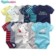 Noworodka śpioszki dla niemowląt chłopcy/dziewczyny kombinezony ubrania 100% bawełna w paski śliczne kombinezon niemowlę dziewczyna ciała Romper odzież dla 0 1Year