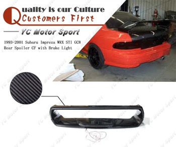 Car Accessories Carbon Fiber Rear Spoiler with Brake Light Fit For 1993-2001 Impreza WRX STI GC8 Trunk Wing