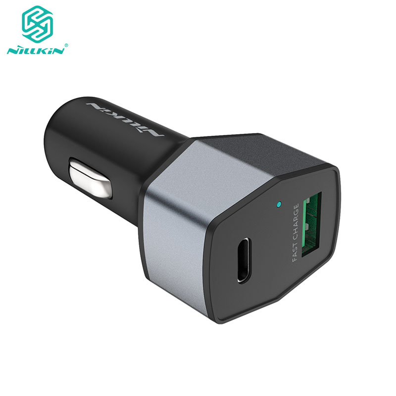 Car Charger Adapter Nillkin 2 Ports USB Type C Car Charger for Samsung Galaxy S9 S8 Plus Note 8 for Xiaomi Mi7 Mi6 Mix 2