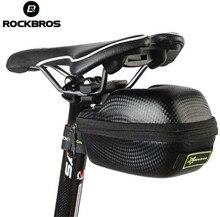 RockBros Leather Bicycle Saddle Bag Saddlebags MTB Road Bike Seat Bag Waterproof Cycling Cycle Portable Saddle