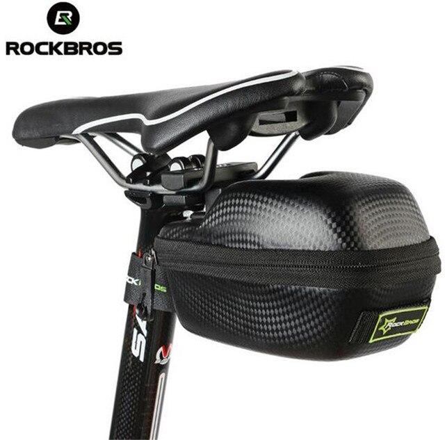 Rockbros Leather Bicycle Saddle Bag Saddlebags Mtb Road Bike Seat Waterproof Cycling Cycle Portable