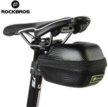 RockBros Leather Bicycle Saddle Bag Saddlebags MTB Road Bike Seat Bag Waterproof Cycling Cycle Portable Saddle Bag Case