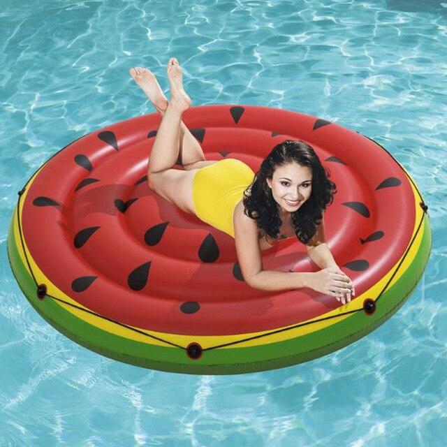 Bestway Double Watermelon Inflatable Floating Row Bed Beach Mat Opblaasbare Zwembad Slgoed Flotador Gigante