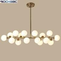 BOCHSBC Ball Chandelier Lighting LED Lamp 16 Heads Bubble Glass Ball Chandeliers for Living Room Bedroom Glass Light Fixtures