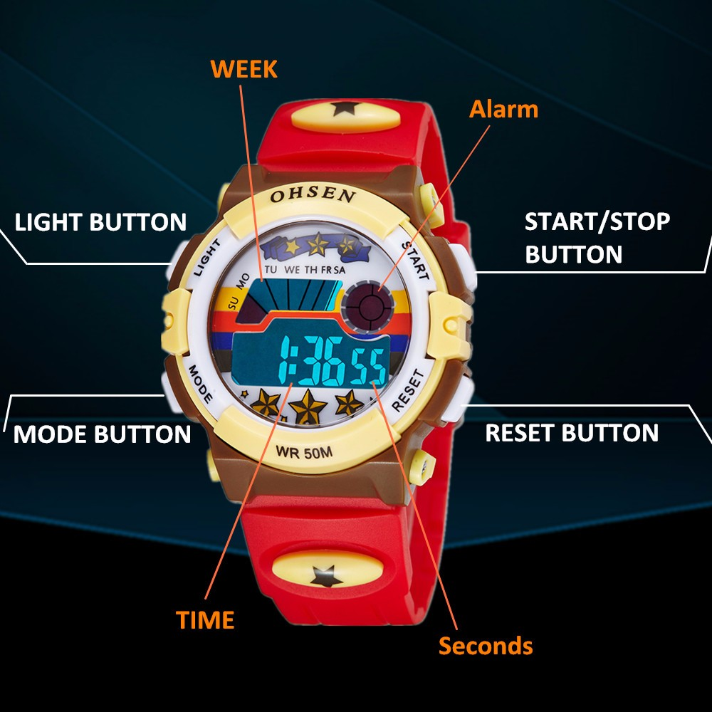 Hot OHSEN Children Watch Boys Life Waterproof Digital LED Sports Watch Kids Alarm Date Casual Watch Gift Hombre Reloj Deportivo (29)