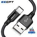 Кабель зарядный EECPT USB Type-C для Huawei P20 Lite/P30, провод для быстрой зарядки телефона Samsung S9, Xiaomi Redmi Note 7