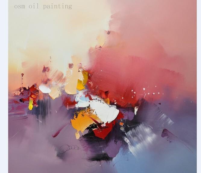 Peint à la main couteau moderne peinture à l'huile abstraite sur toile accrocher peinture pour la décoration murale de la maison Art de mode peintures