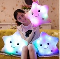 HOT Sale Colorful LED Luminous Stars, LED Light Pillow, Plush Pillow, Cushion , Kids Toys, Party Birthday Gift Free Shipping +