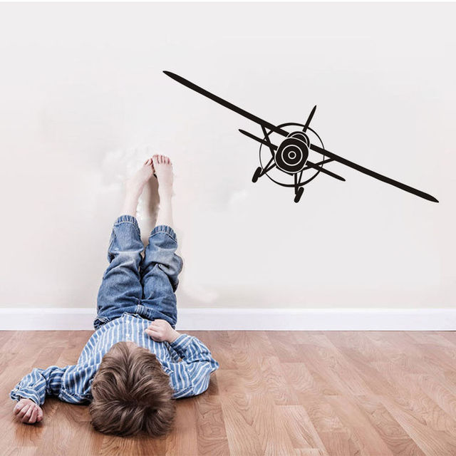 Art Airplane Wall Stickers Home Decor Wall Decal Aeroplane - Vinyl wall decal adhesive