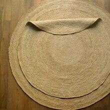 Импортированный из Индии джутовый тканый круглый ковер домашний журнальный столик для гостиной простой нордический ковер для дома