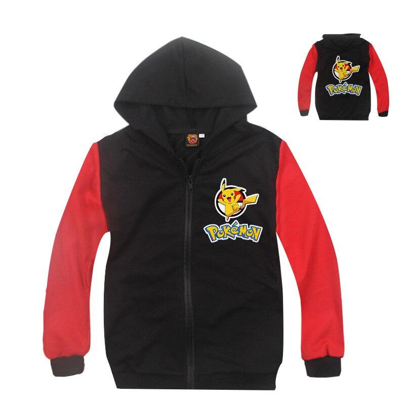 Z & Y 3-8years Пикачу Куртка для маленьких мальчиков Осенняя детская Куртки Покемон Толстовка для маленьких девочек зимние Топы корректирующие ...