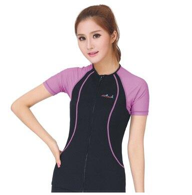 8bcf6a9be3e 1.5mm neoprene & lycra men's rash guard women sun-protective clothing swimming  suit short sleeve Lycra tops diving suit LS-616