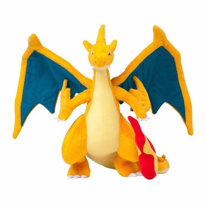 10pcs lot 25cm Mega Charizard Plush Toys Mega Evolution Y Charizard Plush Soft Stuffed Animals Toys