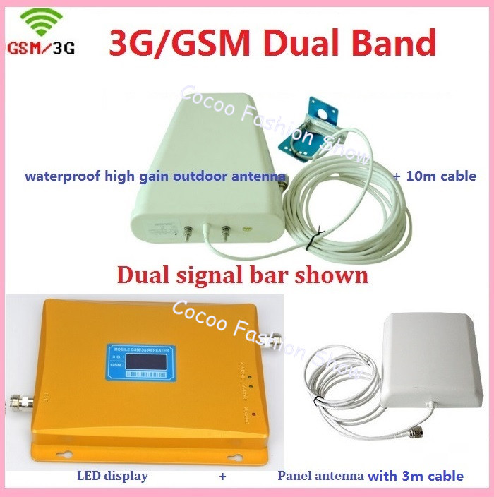 GSM 3G Repeater Dual Band GSM 3G 900 2100 Mobile Phone Signal Amplifier UMTS WCDMA GSM Repetidor Antenna 3G Cell Phone Repeater GSM 3G Repeater Dual Band GSM 3G 900 2100 Mobile Phone Signal Amplifier UMTS WCDMA GSM Repetidor Antenna 3G Cell Phone Repeater