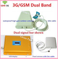 LCD Repetidor! alto ganho de banda Dupla GSM 2G, 3G reforço de sinal GSM 900 2100 repetidor de sinal de Celular amplificador Duplo barra de sinal