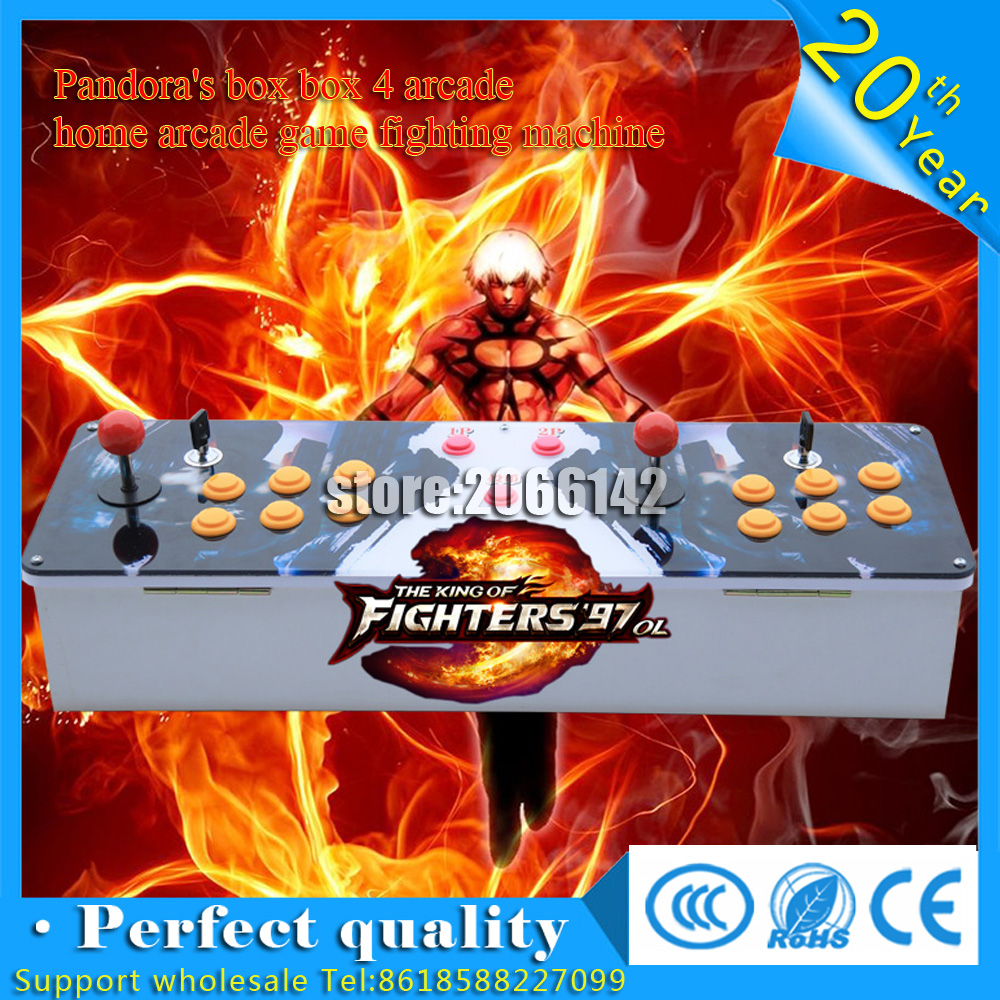 New products Double game console with Pandora's Box4 2player joystick game controller with multi game 645 in 1 arcade game board sanwa button and joystick use in video game console with multi games 520 in 1