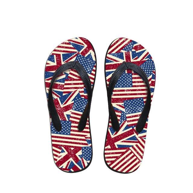 2c5a2999397d2 Casual Slippers US Flag Men Summer Beach Flip Flops Sandals Bathroom Couple  Sandals indoor outdoor Flip-flops Zapatillas Hombre