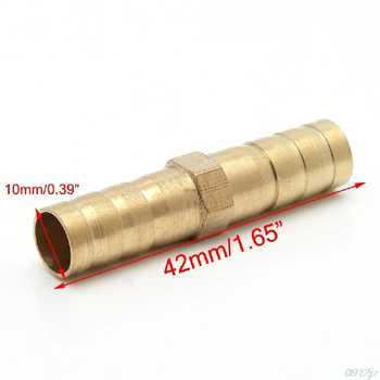 Straight Hose Barbed Connector Air Fuel Water Pipe Gas Tubing 8mm/10mm