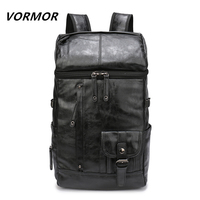 VORMOR High Quality Waterproof PU Backpack Men's Backpacks for Laptop Men Notebook Bag Backpack 14 to 17 Inch Travel bag
