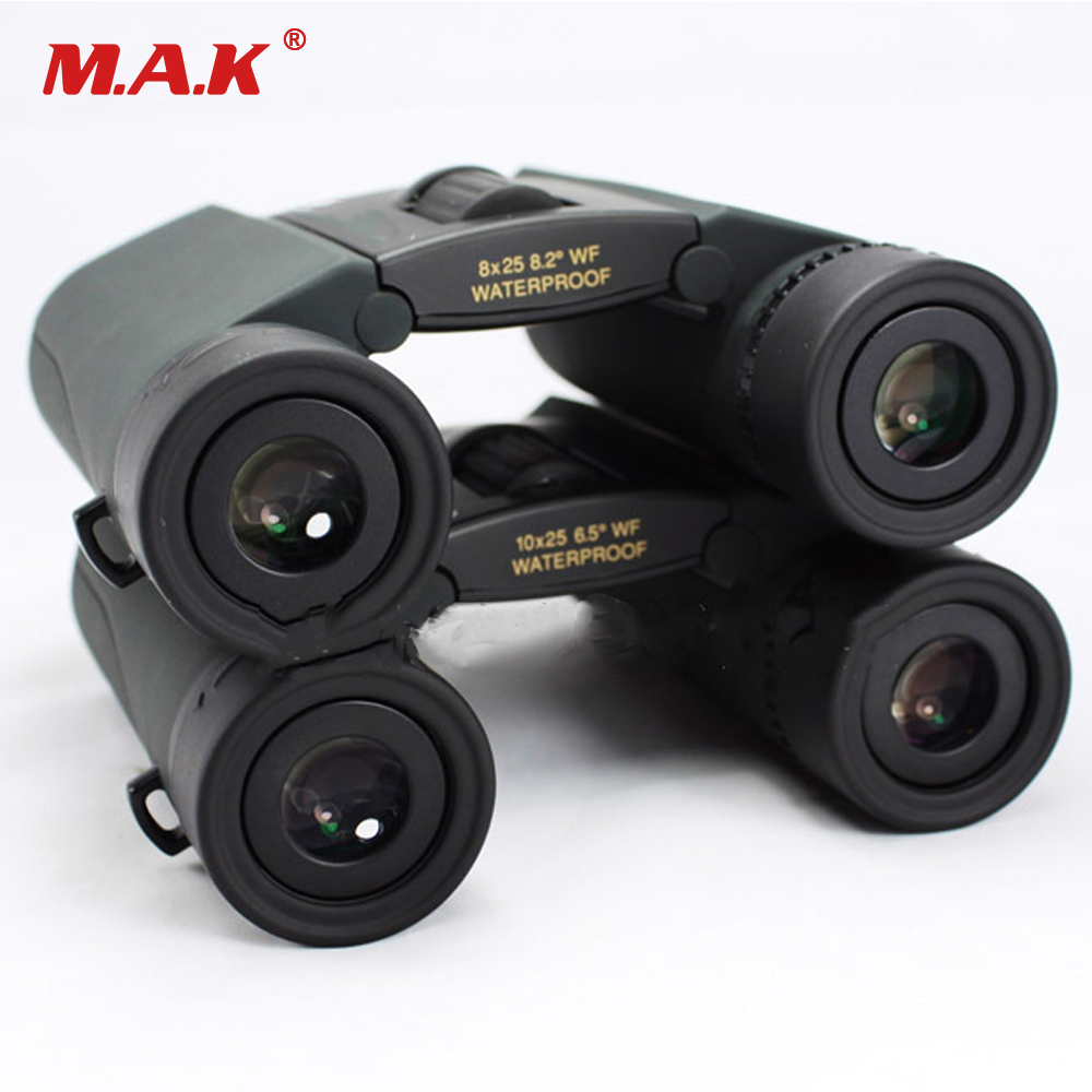 Camping 8X25 and 10x25 Telescope Nitrogen Filling Waterproof Binoculars Anti-fog Portable Telescope for Hunting Equipment bijia 20x nitrogen waterproof binoculars 20x50 portable alloy body telescope with top prism for traveling hunting camping