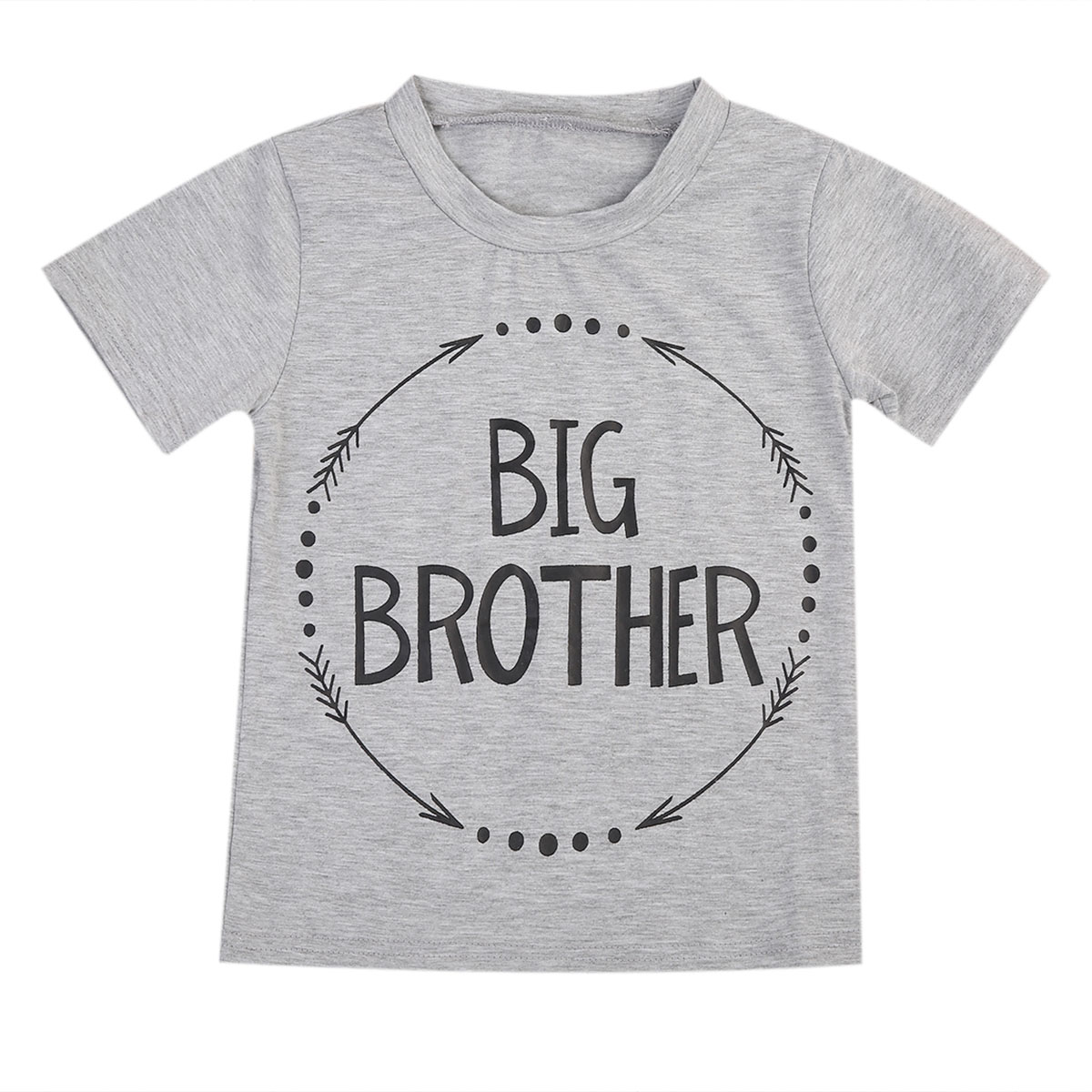 Newborn Baby Boys Kids Clothing Top T-Shirt Short Sleeve Cotton Letter Outfit Clothes Tops Boy