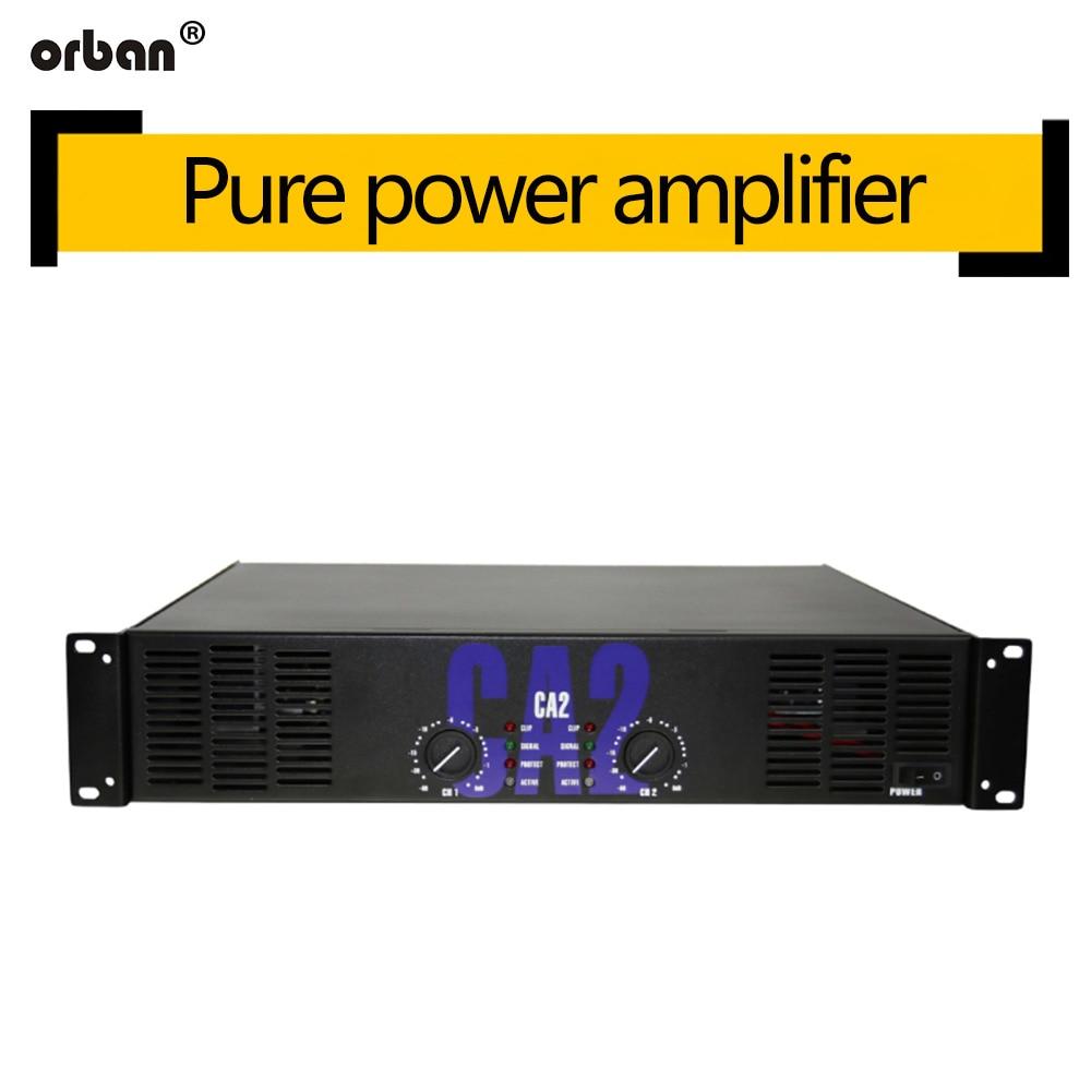 Amplificador de potência profissional de alta potência ca2 fase  traseira pura 250 w amplificador de potência de áudio ktv fase  amplificador de potência 2uÁudio p/ palco