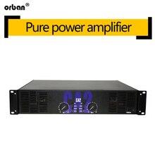 Amplificador de potência profissional de alta potência ca2 fase traseira pura 250 w amplificador de potência de áudio ktv fase amplificador de potência 2u