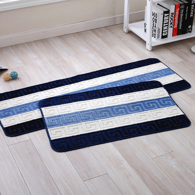 Blue Sky White Clouds Creative Streaks Carpet Floor MATS Door Living Room Toilet Bathroom Waterproof Non & Blue Sky White Clouds Creative Streaks Carpet Floor MATS Door Living ...