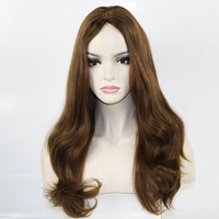 Eversilky Jewish / Sheitel Wig Brazilian Virgin Human Hair Wig Kosher Silk Top Wig 130% Density Natural Wave