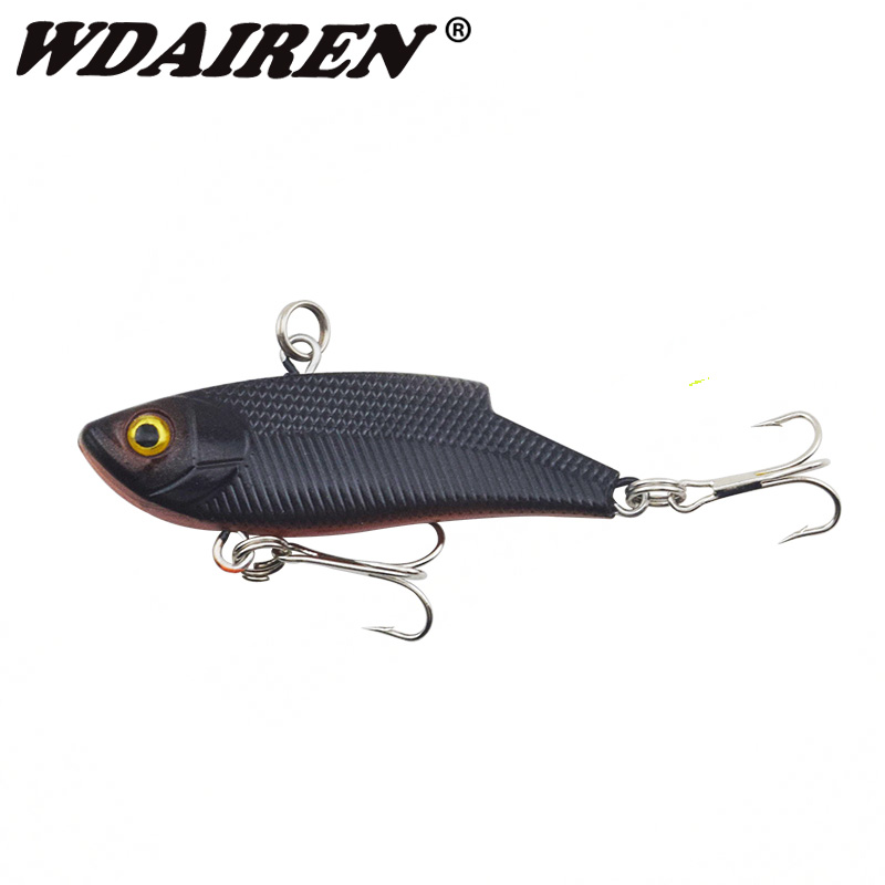 1Pcs VIB winter VIB sinking Fishing Lure 5.5cm/10g Pesca Hooks Fish Wobbler Tackle Crankbait Artificial Japan Hard Bait WD-315 1pcs 3d eye wobbler fishing lure 8 5cm 6 8g japan swimbait pesca crazy wobble crankbait swimming bait fishing tackle