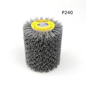 Image 4 - 1 adet 100*120*13mm aşındırıcı tel fırça tekerlek için 9741 tekerlek zımpara P80 P600 ahşap mobilya Metal parlatma taşlama