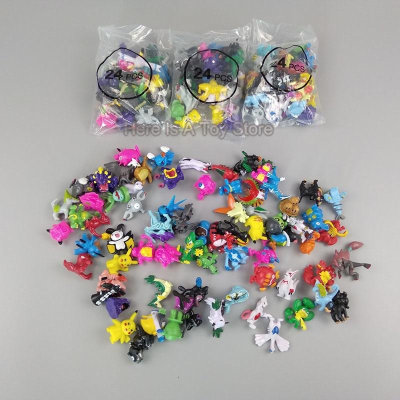 864 pièces gros dessin animé mini 2-3 cm Pokemon figurine d'action Figures pikachued japon animal monstre modèle jouets pour enfants