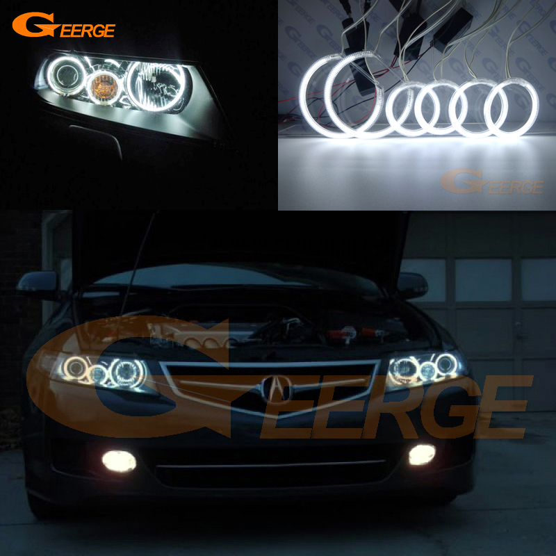 For ACURA TSX CL9 2004 2005 2006 2007 2008 Excellent Angel Eyes Ultra bright illumination CCFL angel eyes kit Halo Ring yamaha tsx b141 black