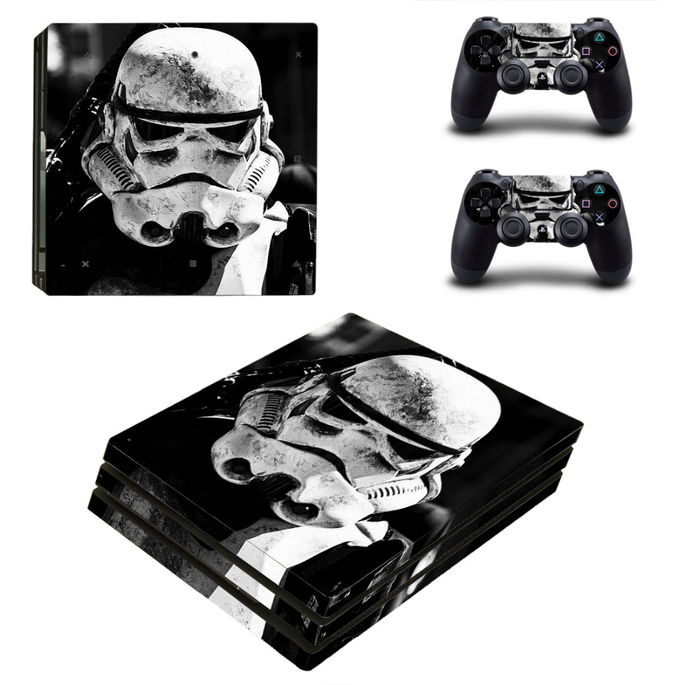 Star War Darth Vader PS4 Pro Skin Sticker Decal for PlayStation 4 Console and 2 Controller PS4 Pro Skin Sticker Vinyl Accessory