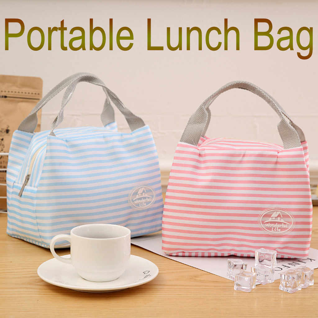 Portable Thickening Lunch Bags Zipper Thermal Bag Outdoor Picnic Cartoon Travel Lunch Box Cold Proof Insulation Bags #40